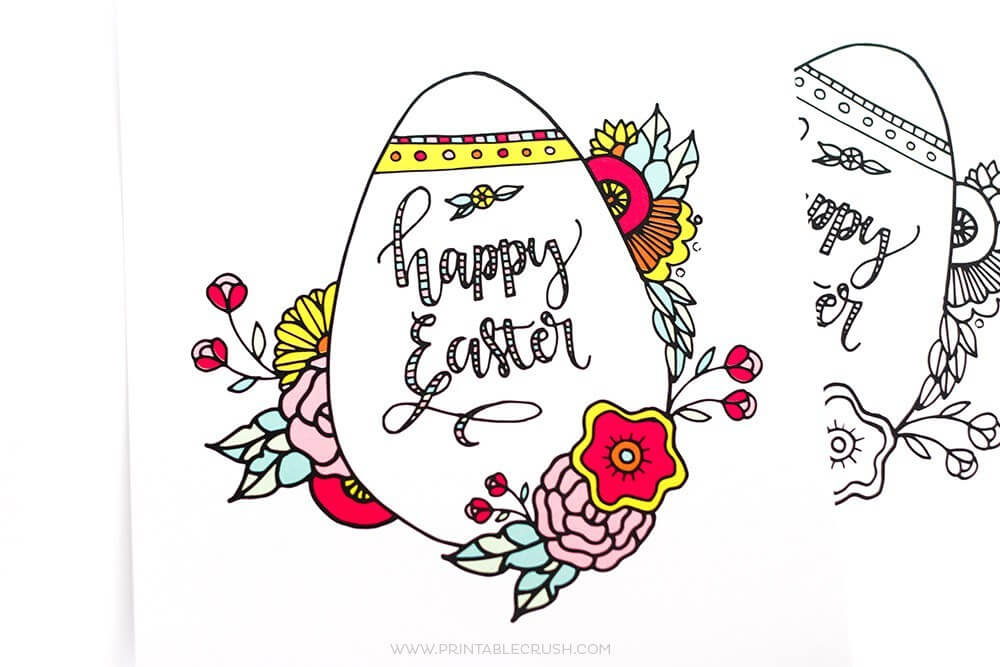 Easter colouring pages for adults