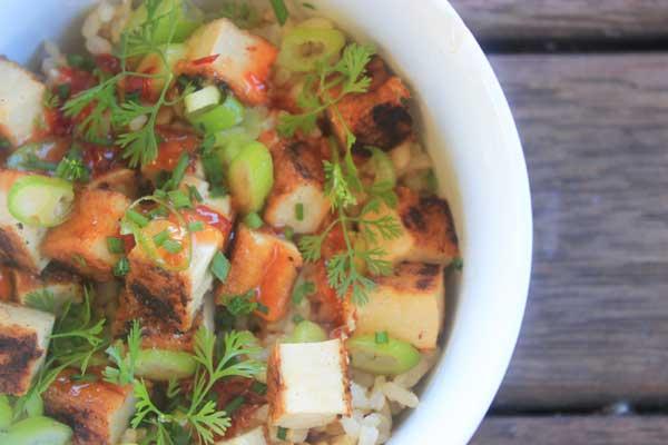 Healthy tofu salad