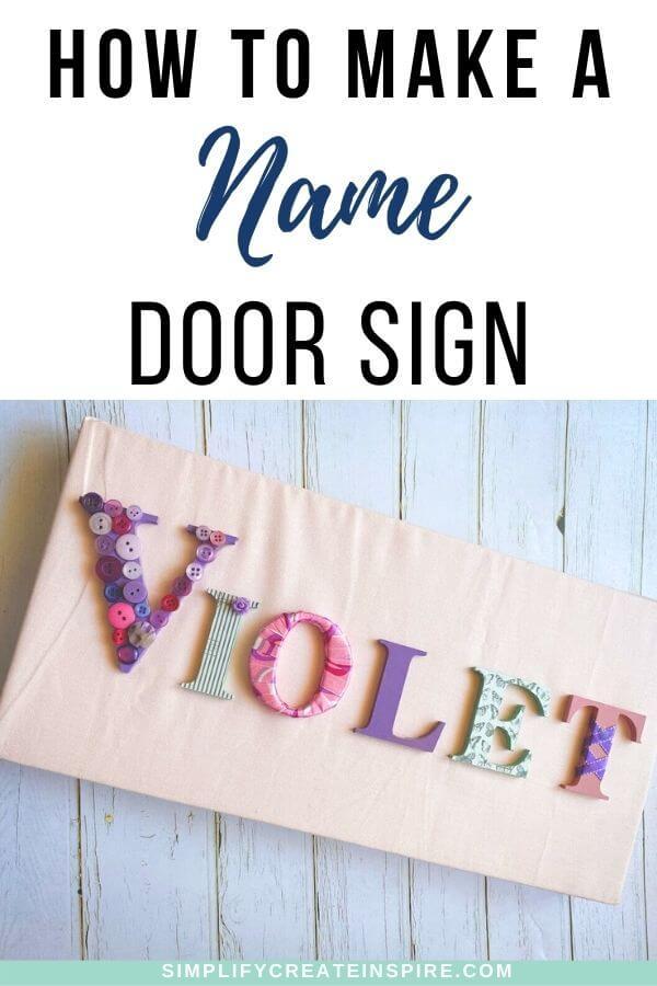 Diy name sign
