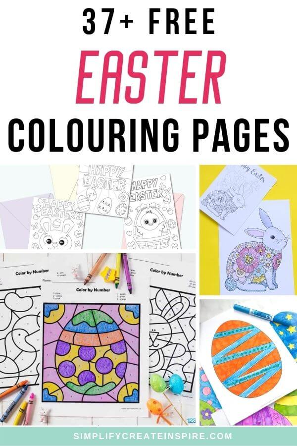 Free pirntable easter colouring pages