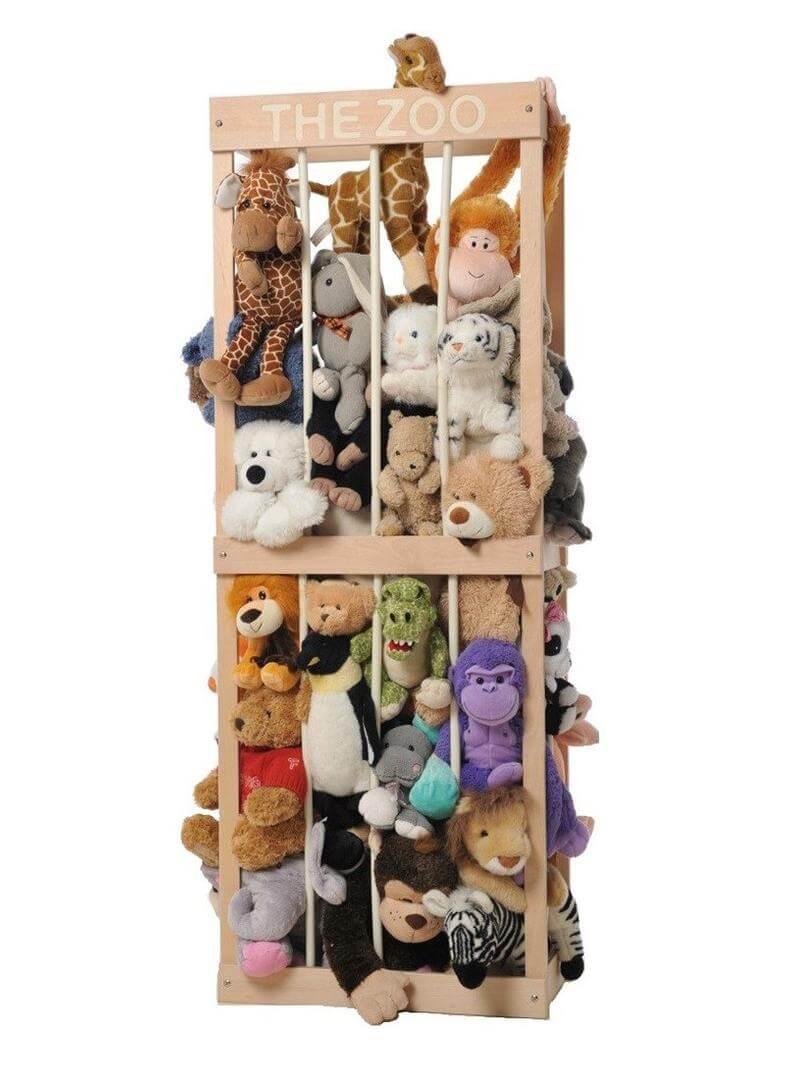 The zoo soft toy storage