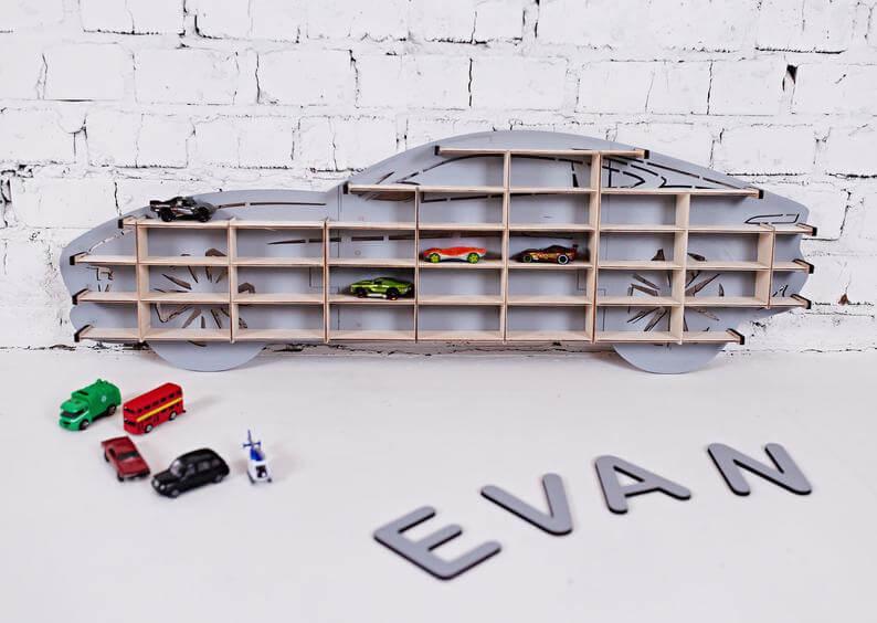 Personalised toy car storage