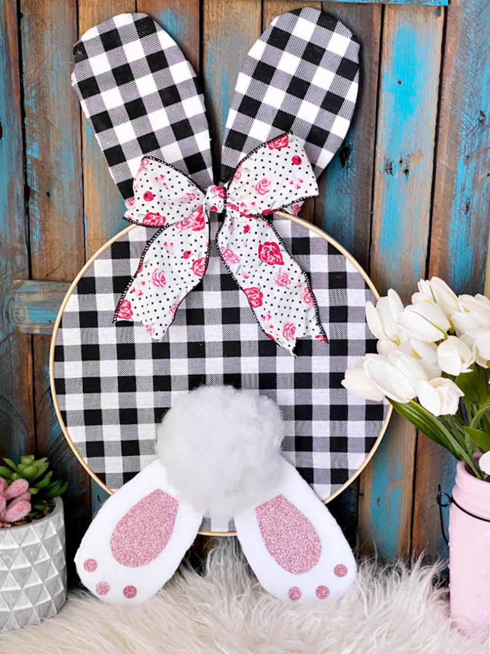 Bunny hoop wreath