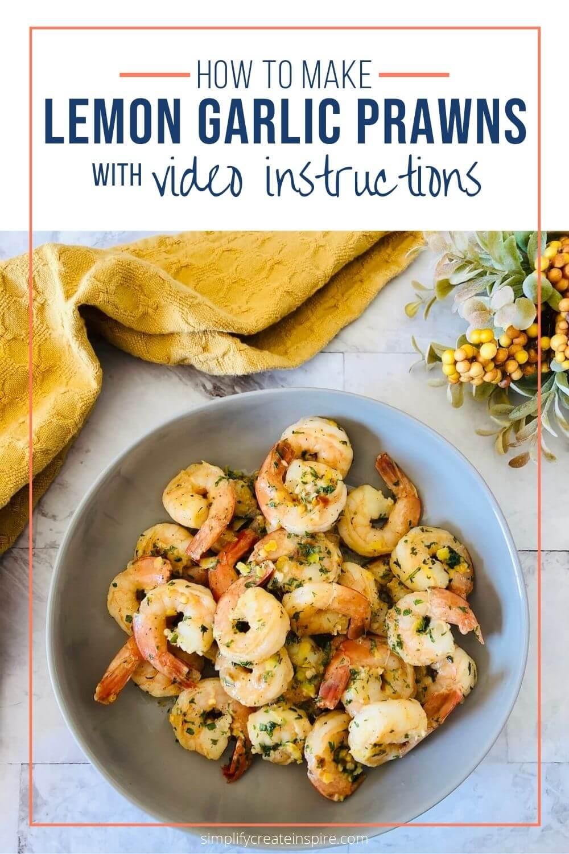 Easy lemon garlic prawns recipe (garlic shrimp)