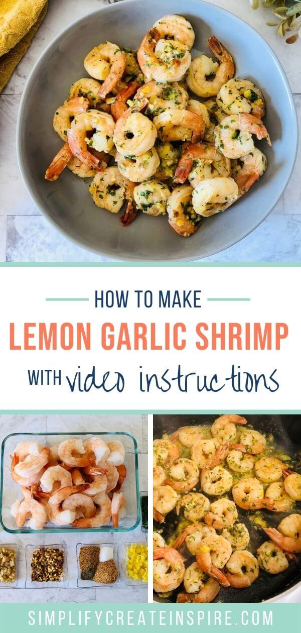 Easy lemon garlic prawns recipe