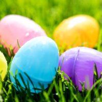 plastic easter eggs for easter egg hunt