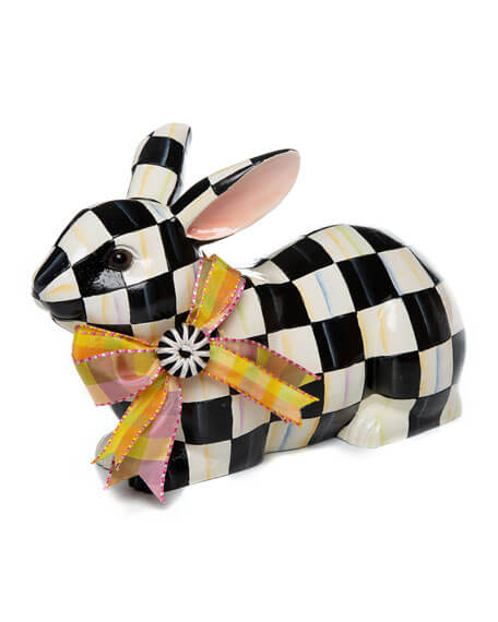 Checkerboard bunny ornament