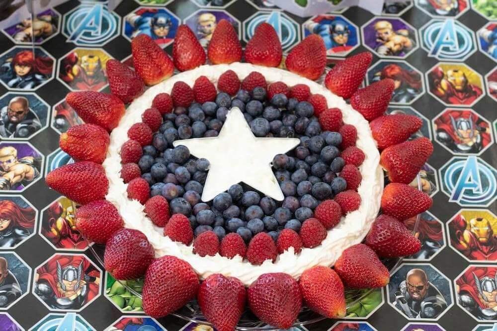 Captain america fruit platter