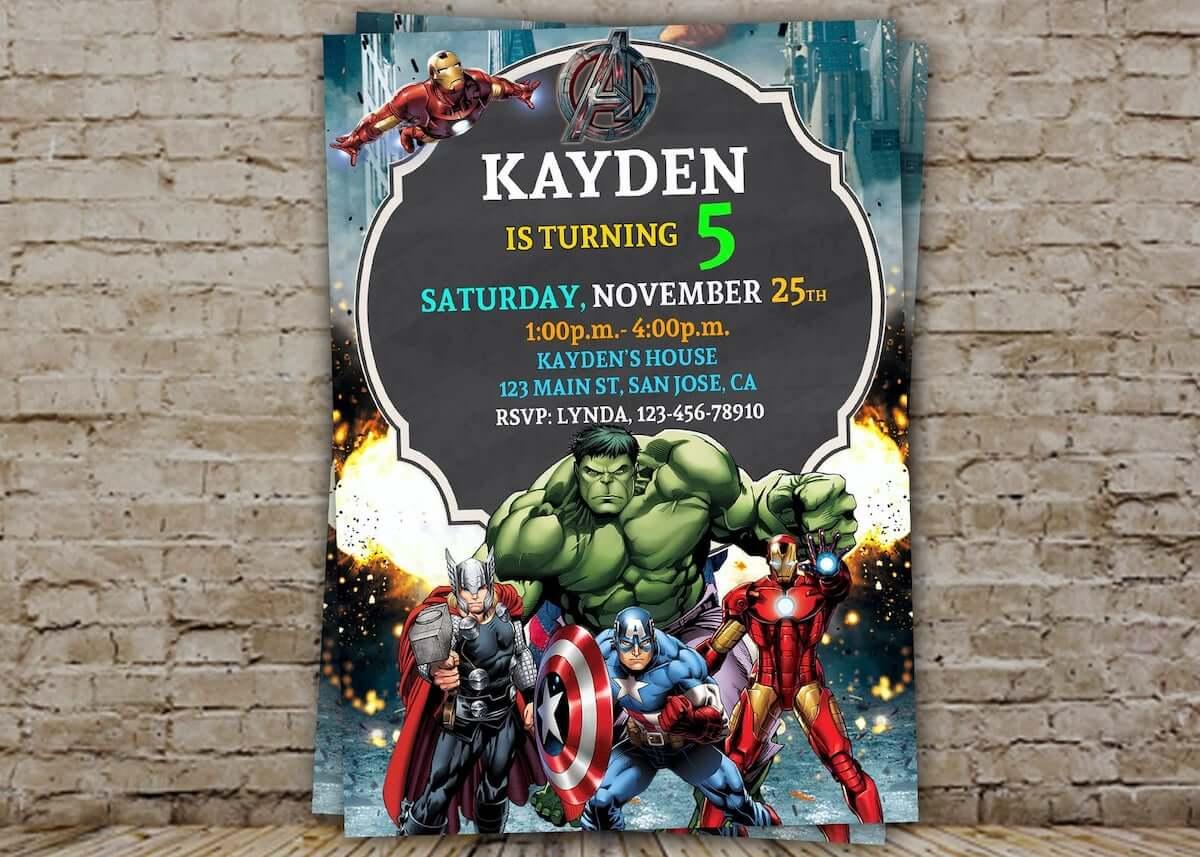 Marvel party invitation