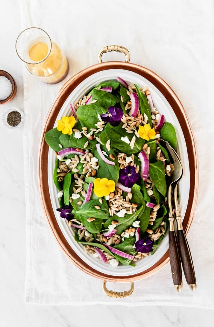 Spinach orzo salad what to serve with soup: 70+ easy soup side dishes