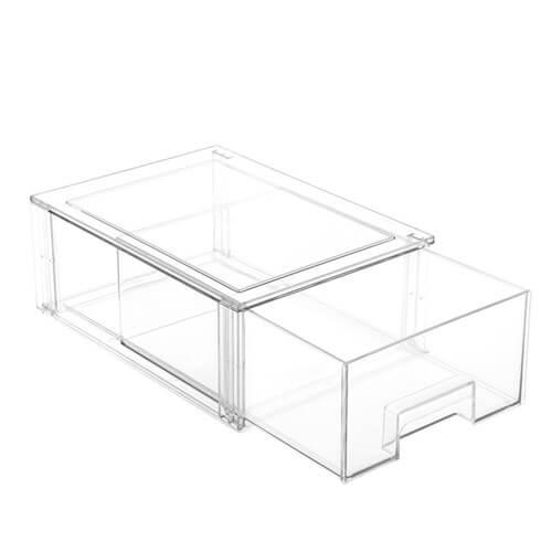 Stackable fridge storage drawer