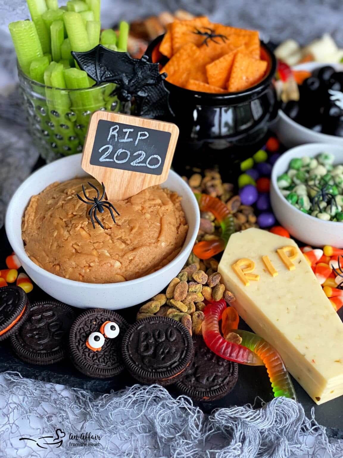 Halloween cheese board 1152x1536 1 50 easy halloween party finger foods, treats & appetiser ideas