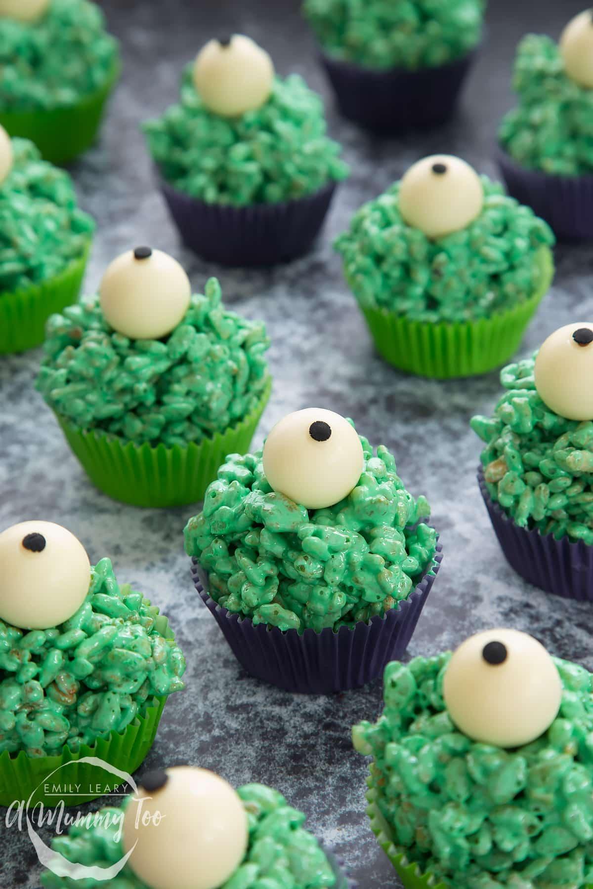 Halloween crispy cakes