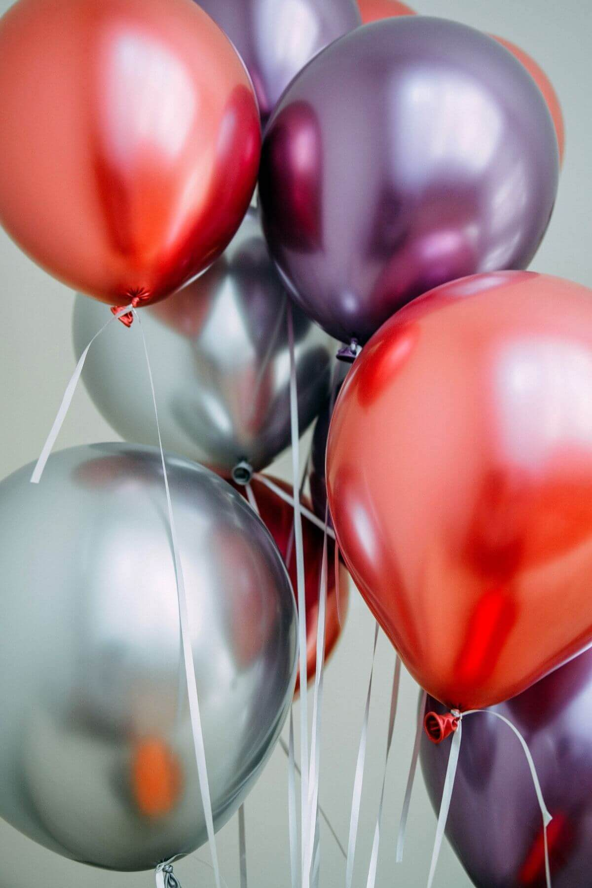 Balloons decorating an adult party