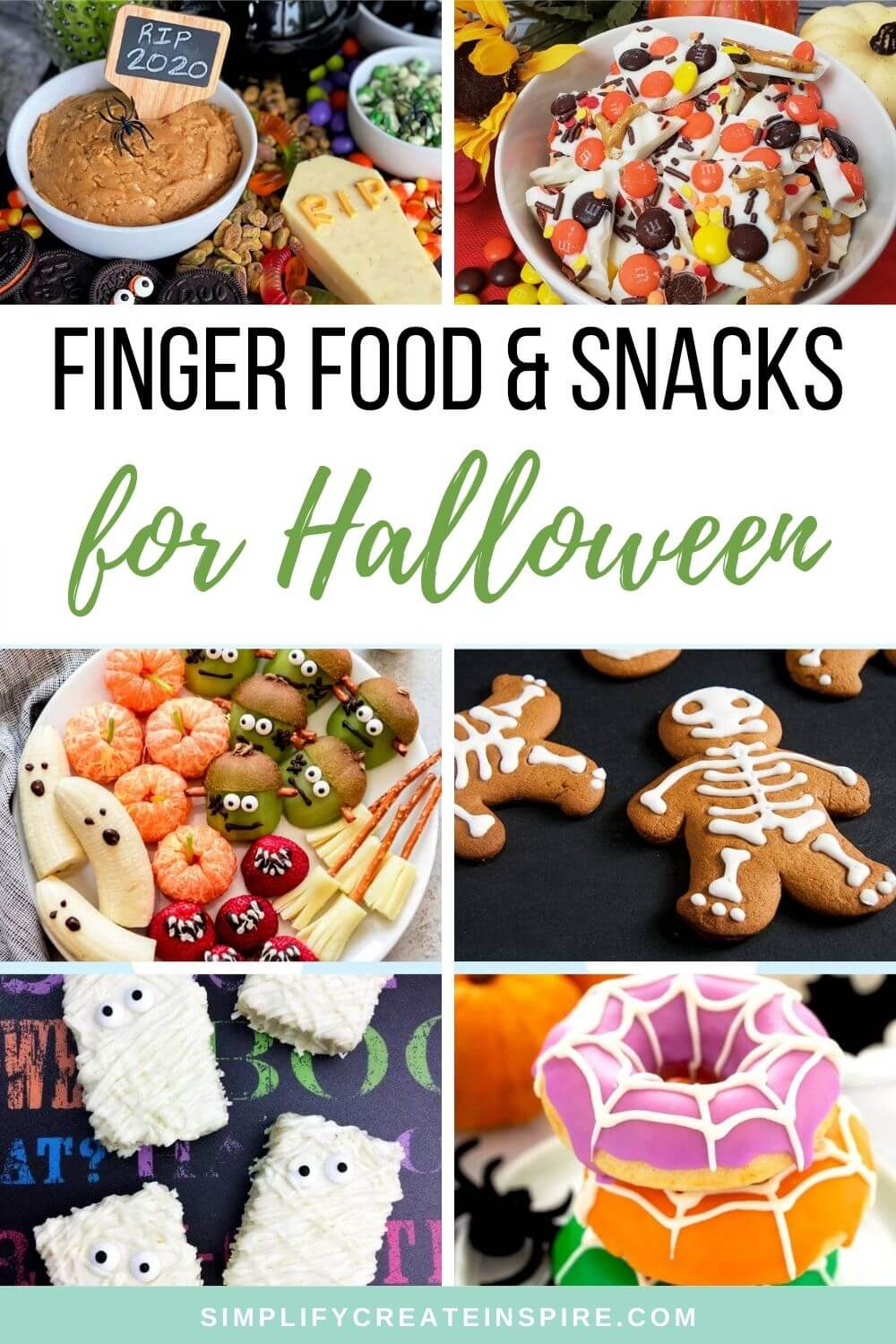 Halloween party finger foods and treats