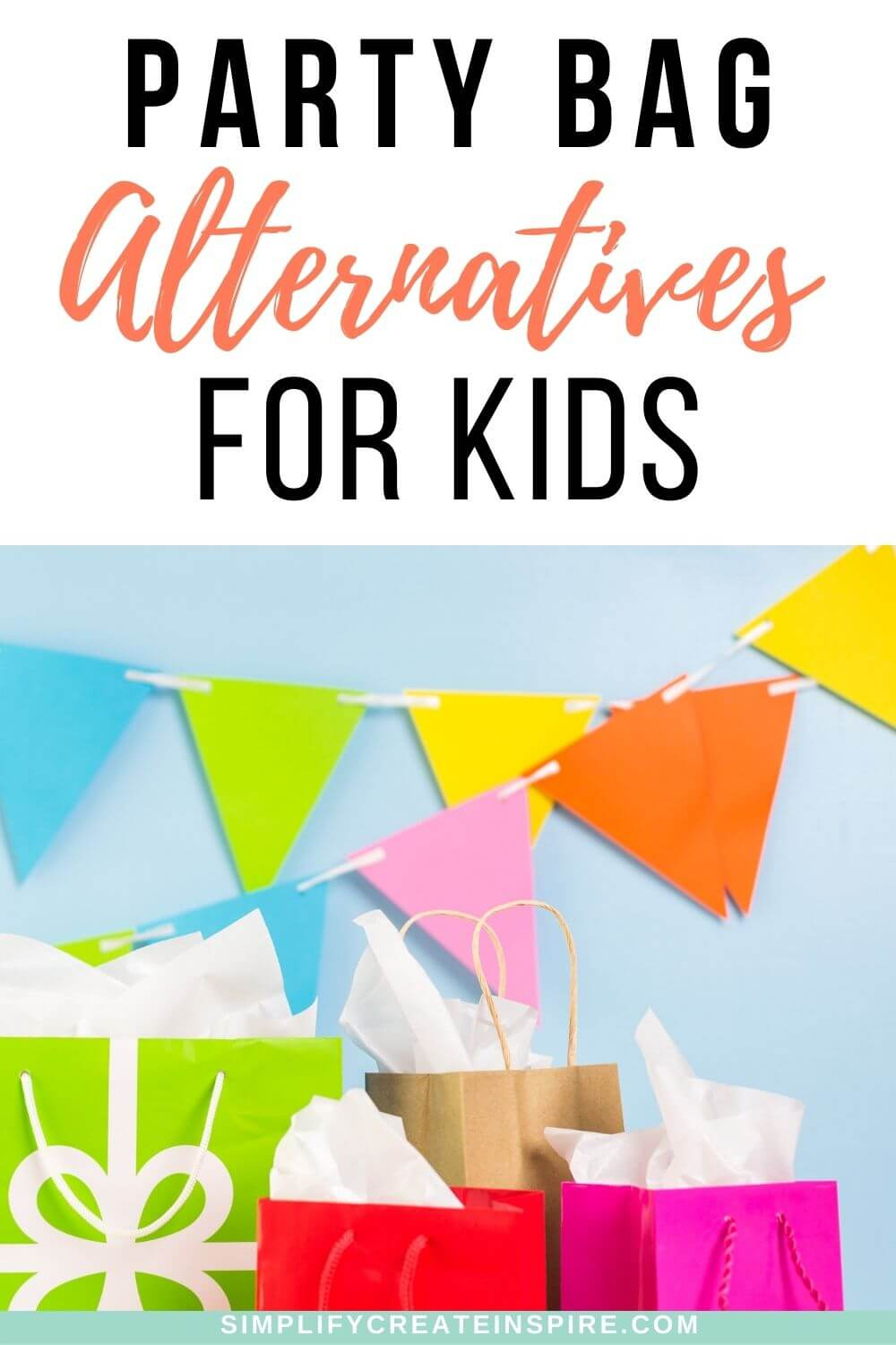 Fun party bag alternatives & party bag fillers that aren't lollies