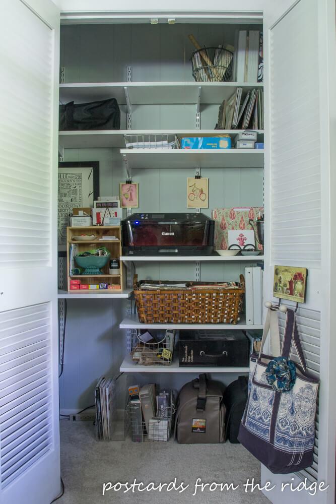 Home office closet