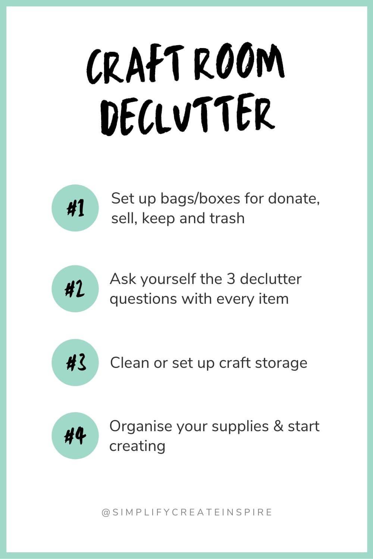Craft room declutter