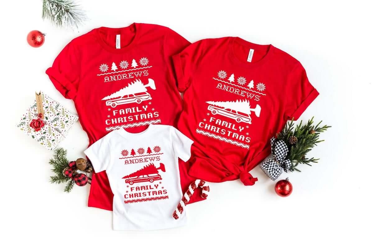 Family christmas shirt