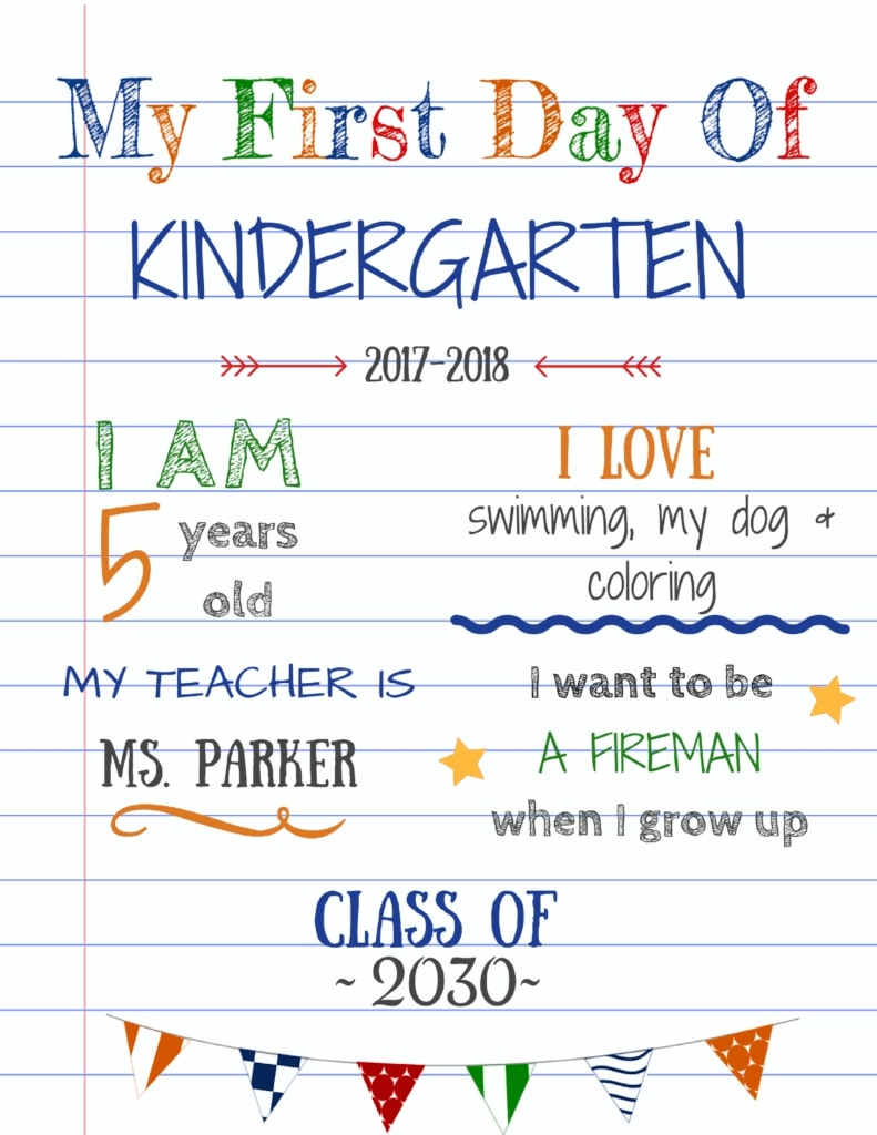 Editable back to school sign