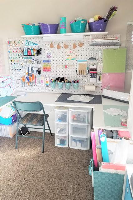 Sewing room peg board