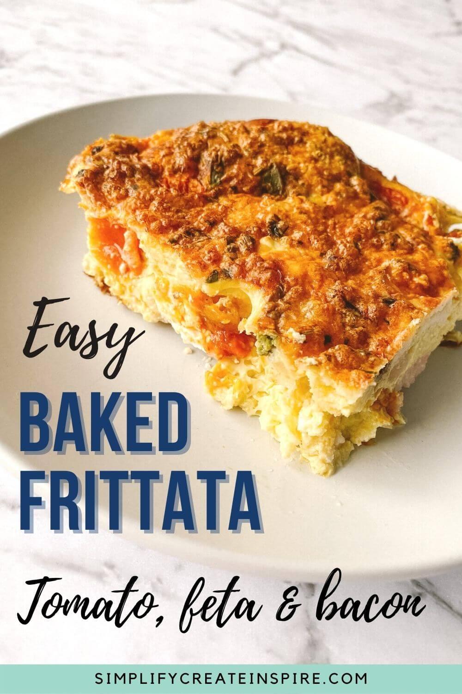 Easy baked frittata recipe