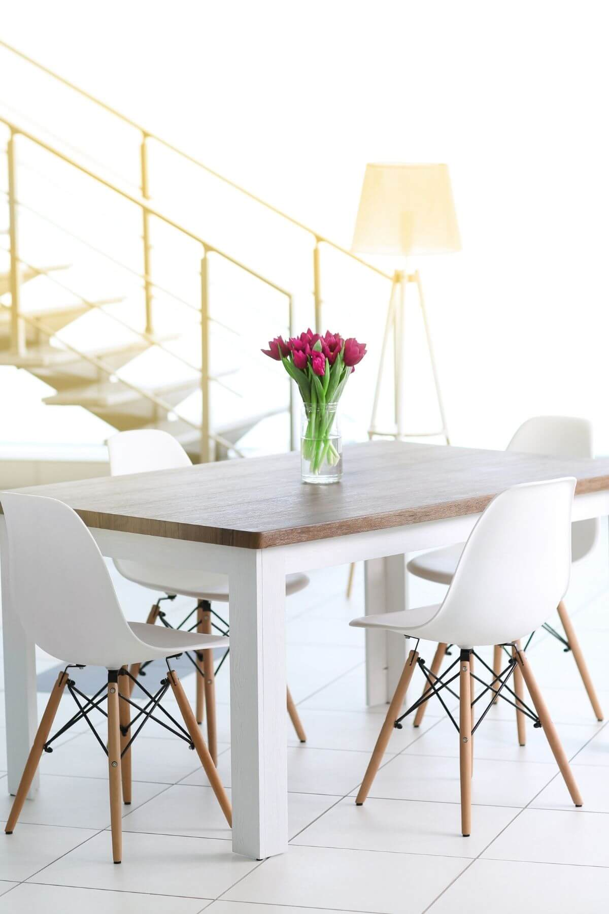 Tidy dining room table