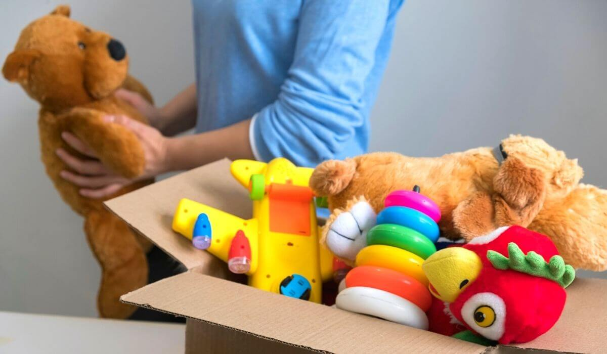Decluttering baby toys