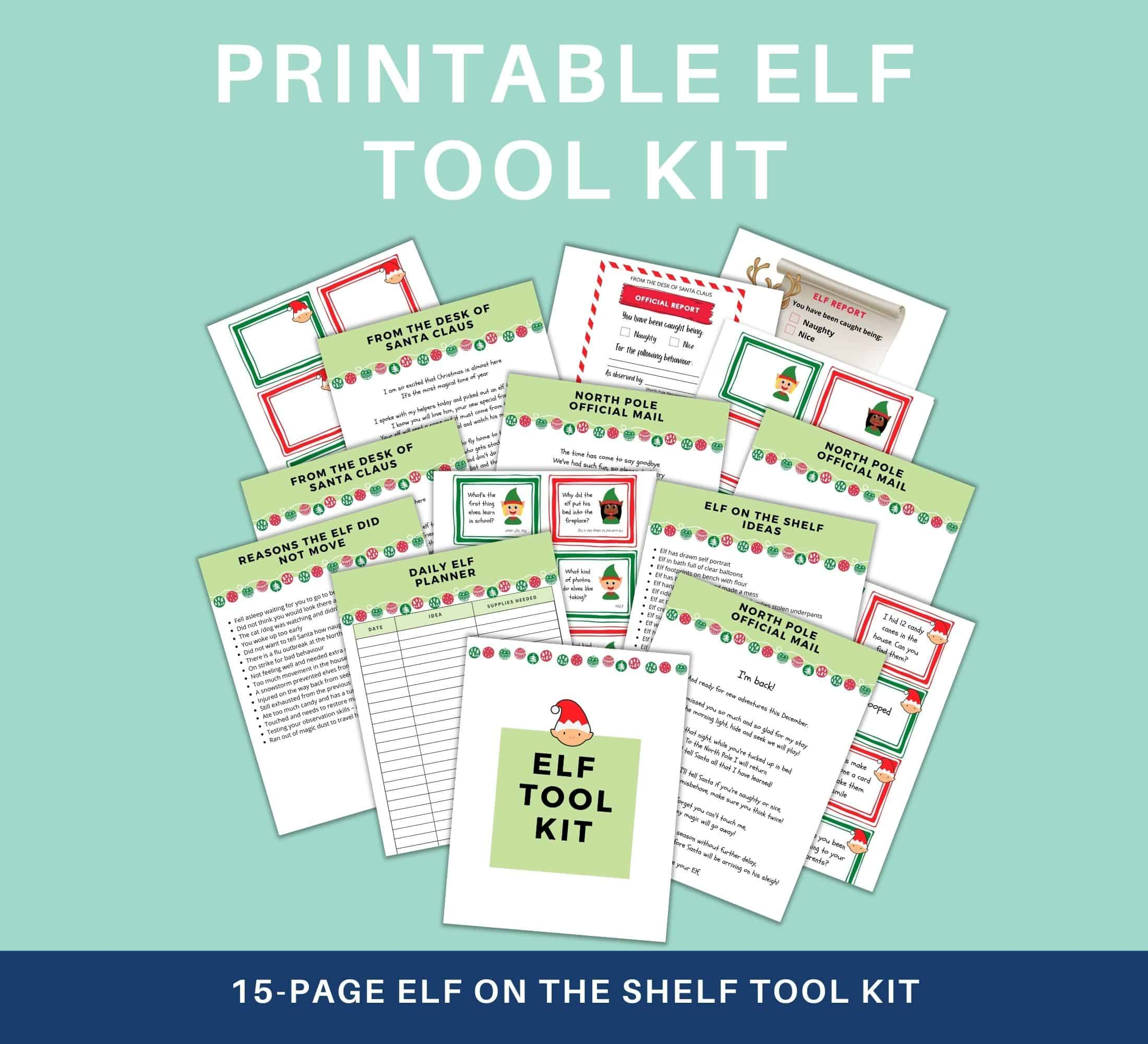 Elf on the shelf tool kit