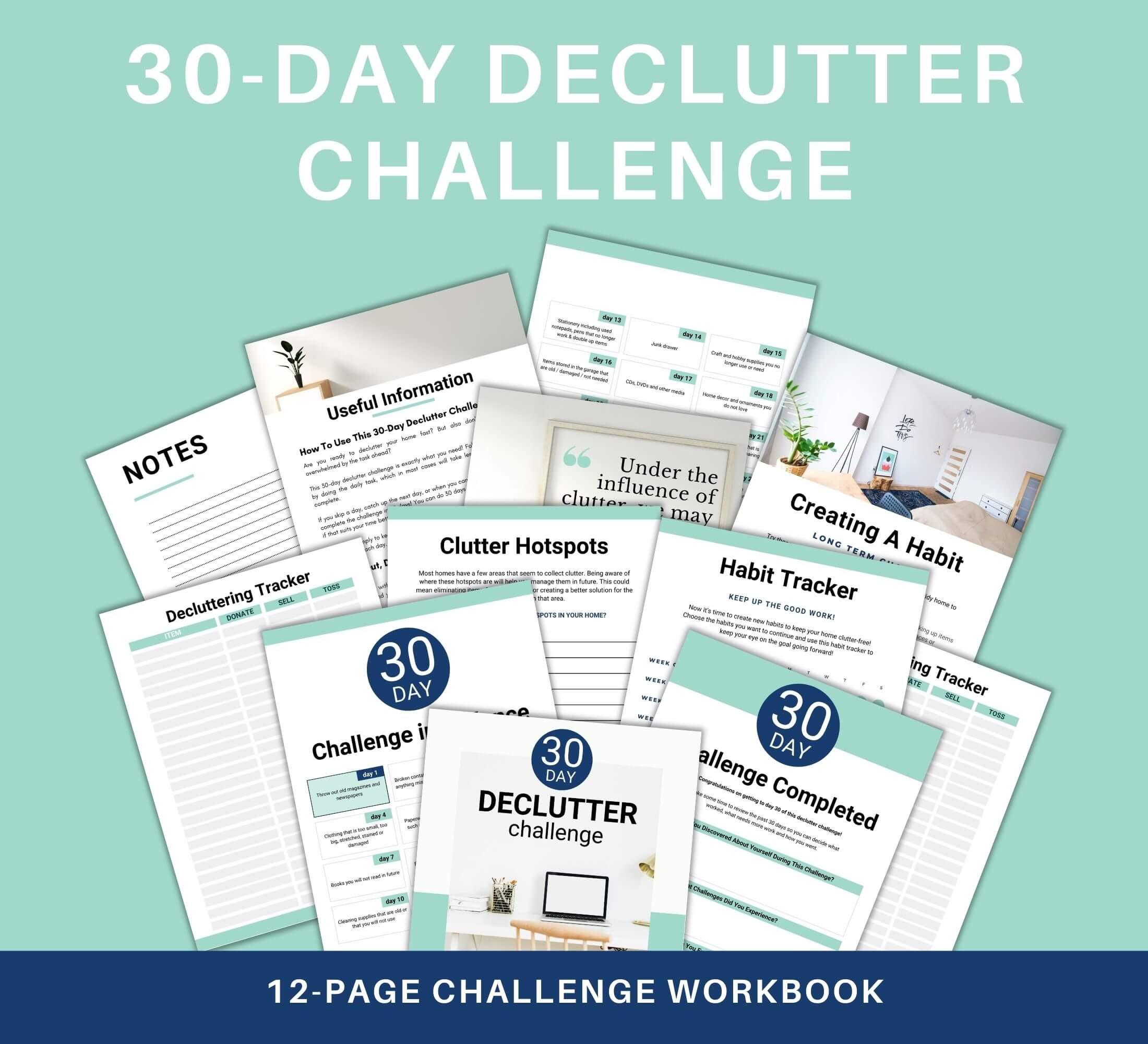 30 day declutter challenge workbook 5